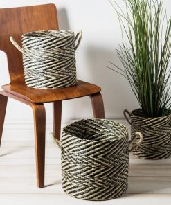 cape sea grass 3 piece wicker basket set
