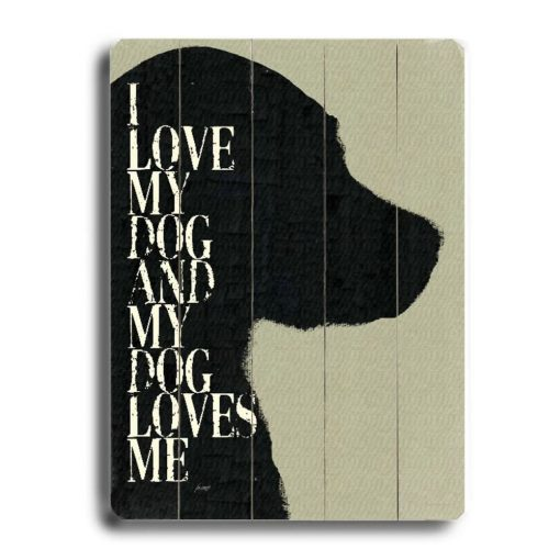 cecile i love my dog and my dog loves me vertical graphic art