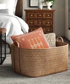 chamonix natural and sustainable rattan basket