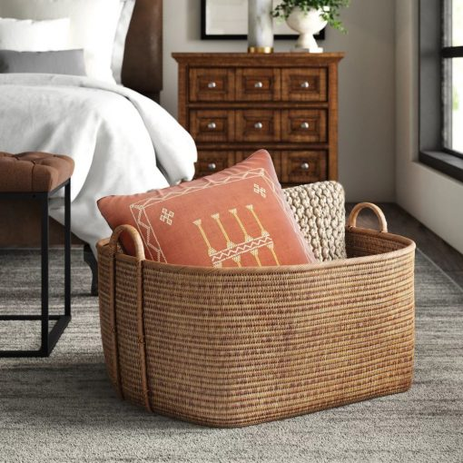 chamonix natural and sustainable rattan basket