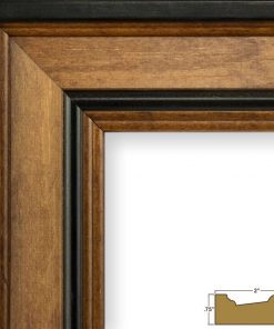 chamonix wide poplar wood grain picture frame