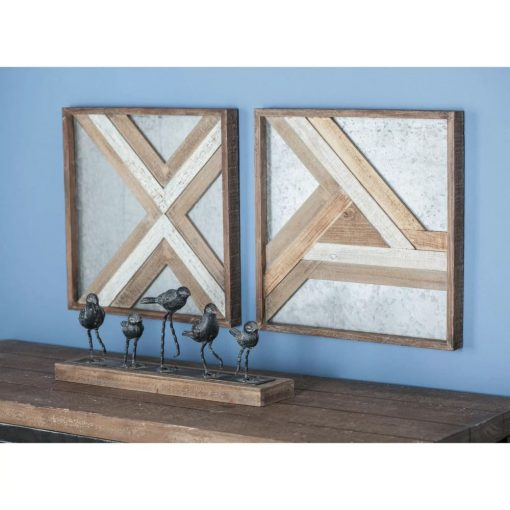 chauncy 2 piece rustic wood wall décor set