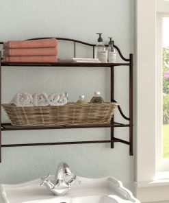 chilmark 2 tier metal wall shelf
