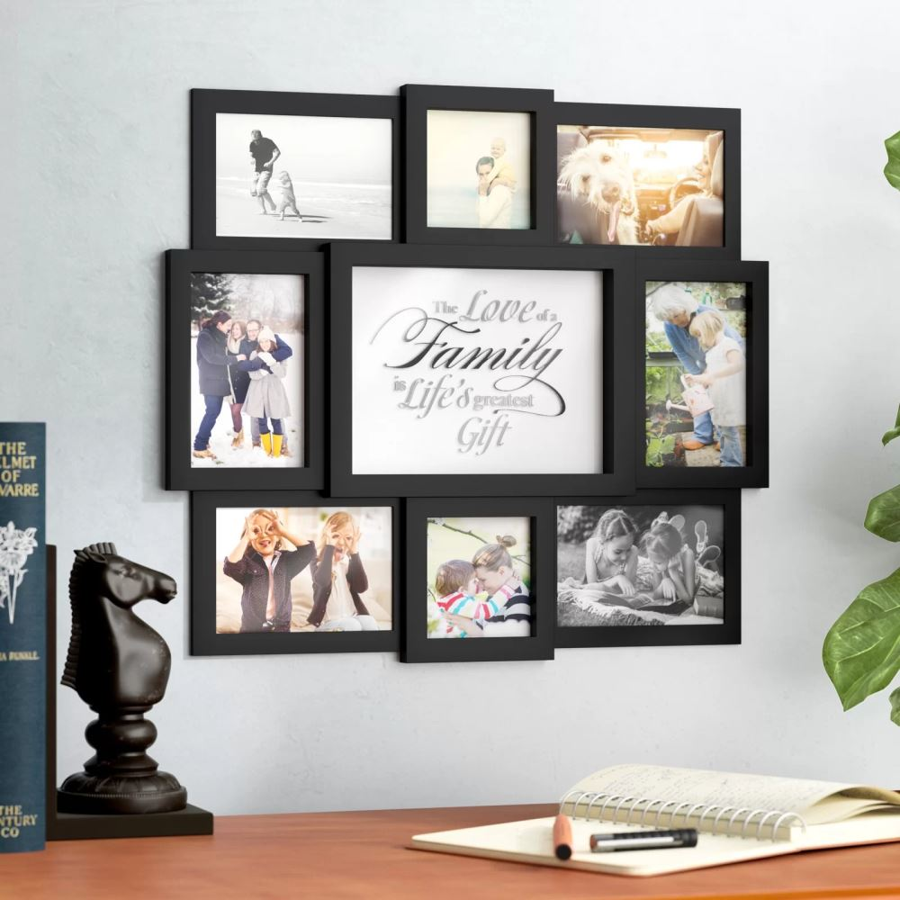 cinthia plastic 8 opening collage hanging picture frame