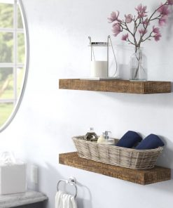 cinthia solid wood wall floating shelf