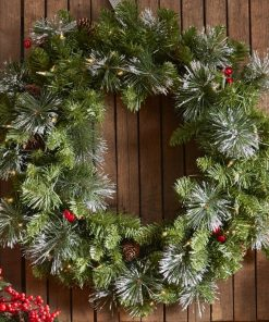 clemence green artificial spruce pvc wreath