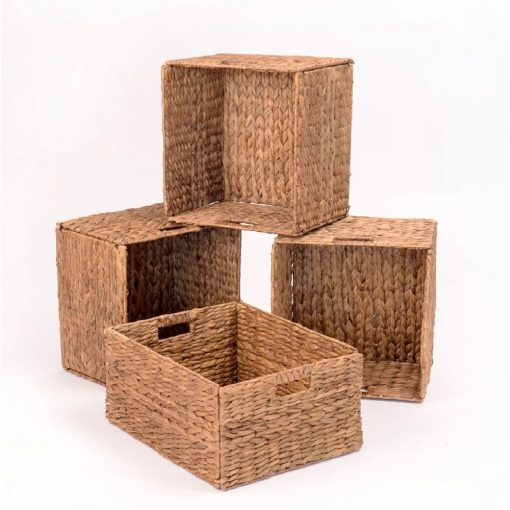 colleen hand woven water hyacinth wicker basket