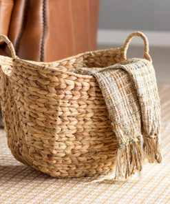 cora beautiful and striking tall water hyacinth wicker basket