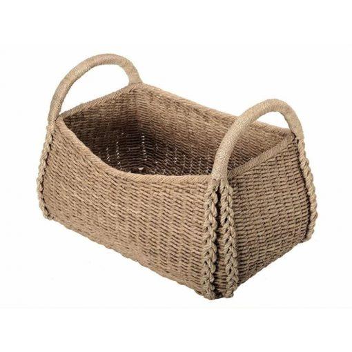 cordelia natural brown storage wicker basket