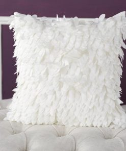 corey 100 polyester ruffle throw pillow