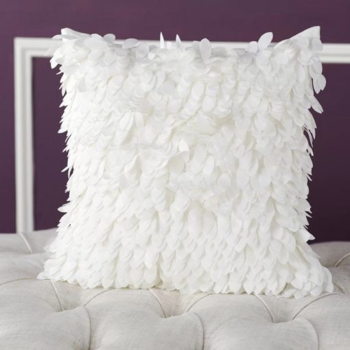 corey 100 polyester ruffle throw pillow