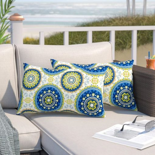 corey polyester and polyester blend lumbar pillow