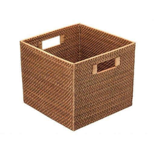 corey square hand woven rattan storage basket