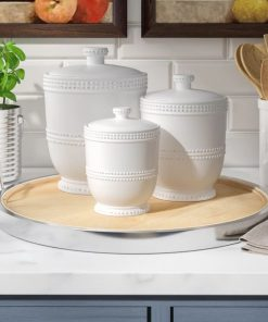 corey white kitchen canister set of