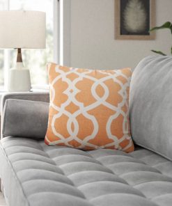 coterie damask cotton throw pillow