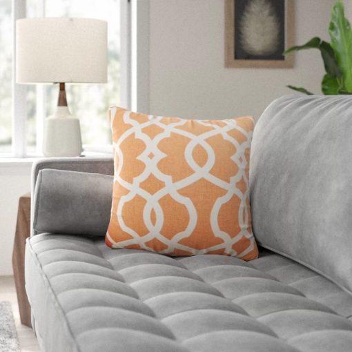 coterie damask cotton throw pillow