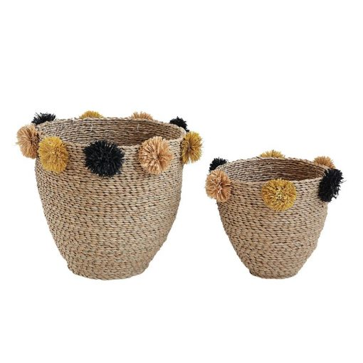 cynthia 2 piece nesting seagrass basket set