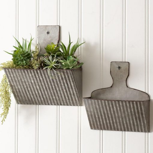 cynthia dust galvanized pan wall pockets