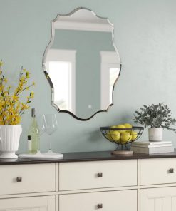 cynthia frameless and scalloped accent mirror