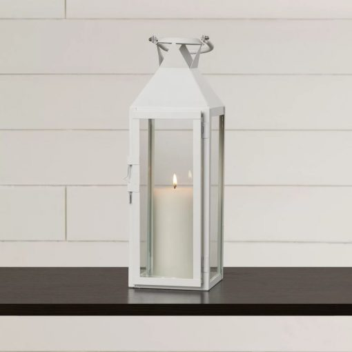 daisee 4 glass panels and metal frame candle lantern