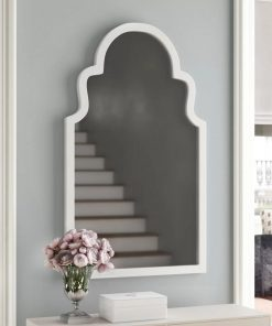 dakota white arch vertical wall mirror