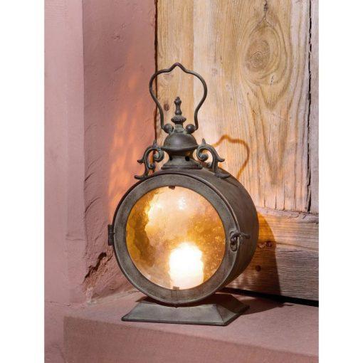 dani curved glass inserts and filigree door lock lantern