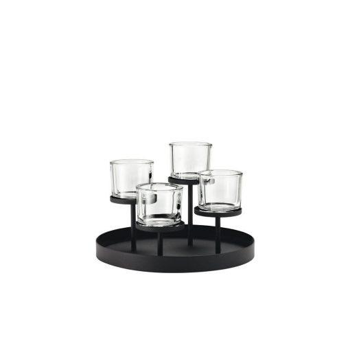 daria 4 candle tealight metal candelabra