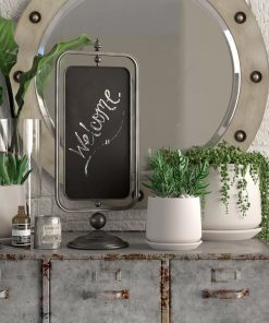 darlina black metal tabletop chalkboard