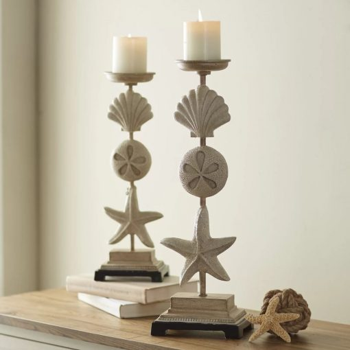 draped-2-piece-light-sand-stone-candlestick-set