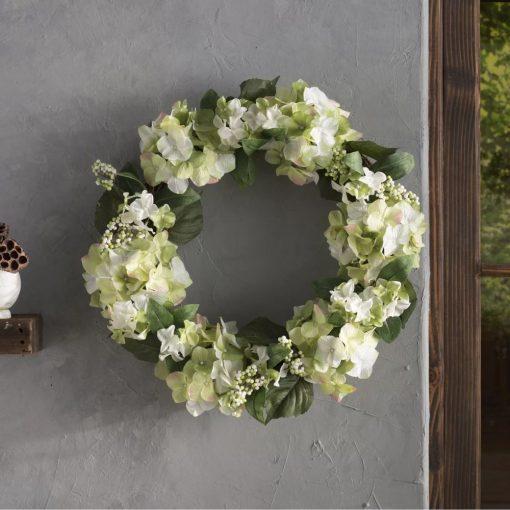 drew fabric hydrangea berry wreath