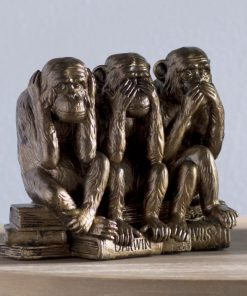 drusilla bronze see hear speak no evil monkey trio figurine