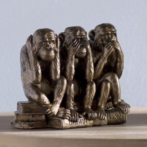 drusilla bronze see hear speak no evil monkey trio figurine