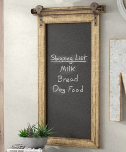 dulcinea wood wall mounted chalkboard