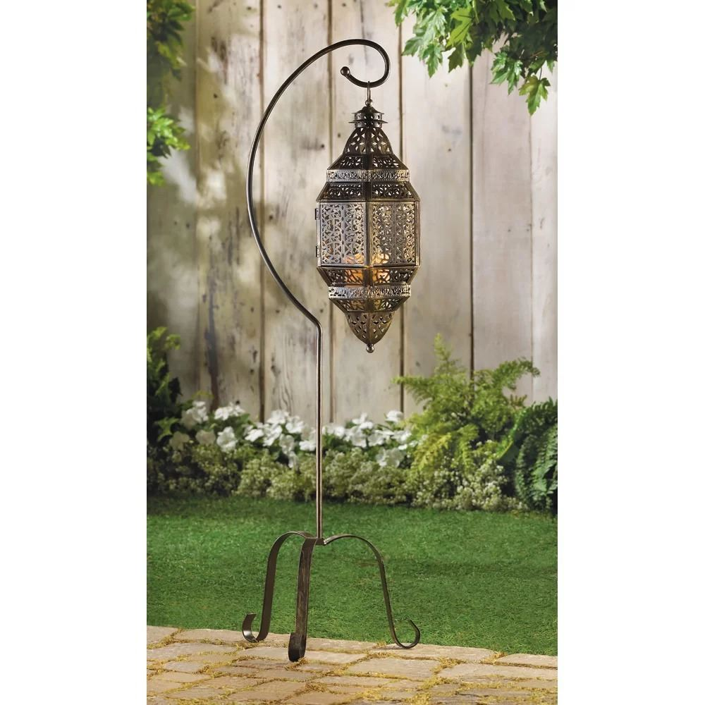 eberjey dark gray attleborough iron lantern
