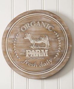 edie cute farm wood lazy susan