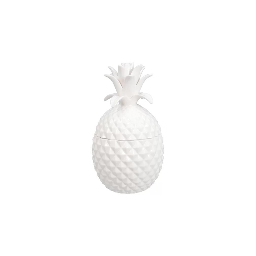 eleonora contemporary white ceramic pineapple figurine