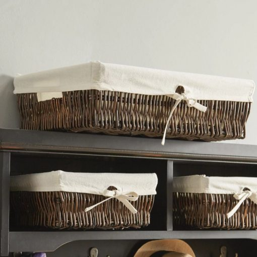 elisabeth lined willow 3 piece nested wicker basket set