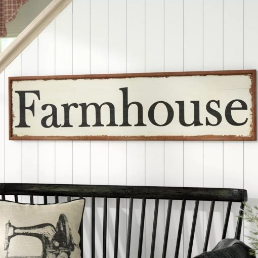 ellis distressed wood hand painted farmhouse wall décor