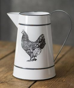 esther black handle henny hen pitcher