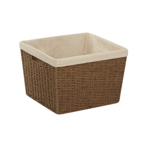 laurel brown wicker collapsible 2 piece nesting basket set