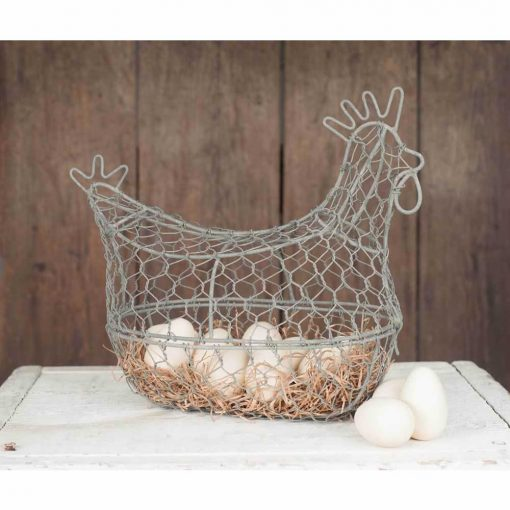 faustina cute chicken wire egg basket