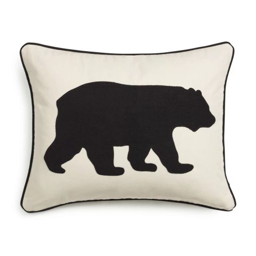 floral rectangular bear 100 cotton lumbar pillow