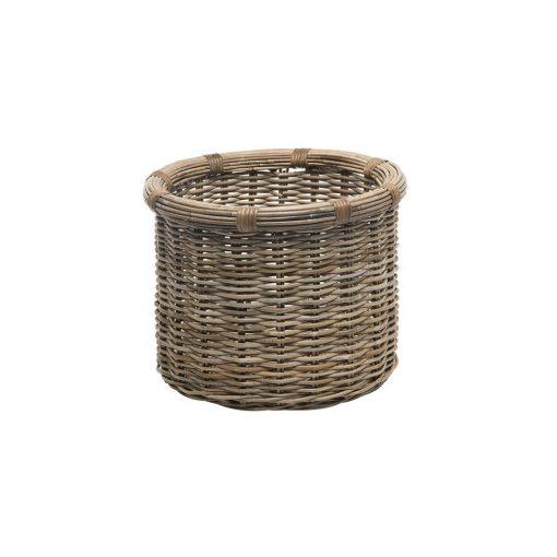 frida brown coastal rattan storage basket