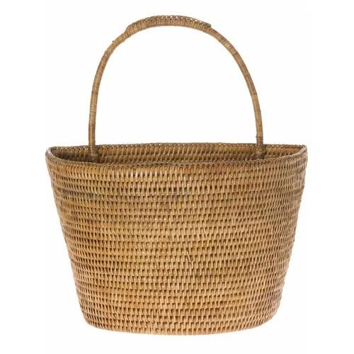 gabriela charming handwoven rattan wall basket
