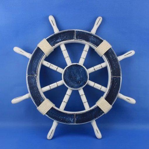 garland rustic wood ship wheel wall décor