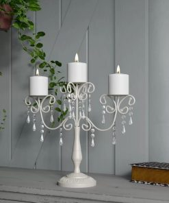 gemma ivory elegance three pillars iron candelabra