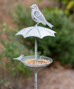 gemma wholesale rustic umbrella garden stake bird feeder
