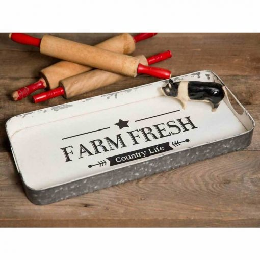 georgiana cute farm fresh serving tray