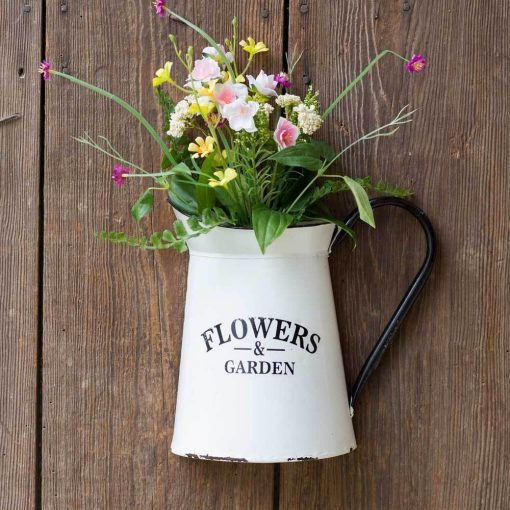 georgiana framhouse flowers and garden pitcher wall container