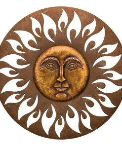 gigi brown aurora circle sun wall decor